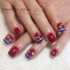 Fourth of july acrylic nail art