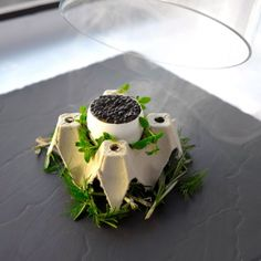 Smoked truffe egg - The ChefsTalk Project