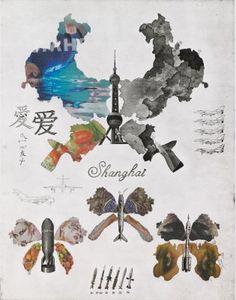 Shanghai  etching,aqutiant  70*90cm   2008 arts, print,printmaking