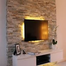 Stone Accent TV Wall Mount Ideas For Living Room Awesome Place Of Television Nihe And Chic Designs Modern Decorating Source By