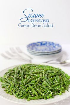 Sesame Ginger Green Beans - so easy and almost completely make ahead. Just throw it together at the las minute and expect rave reviews!