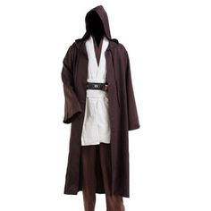 a1b1ea1ee4 Star Wars Jedi Cloak Hooded Robe Cloak Cape Dress Black Brown cosplay