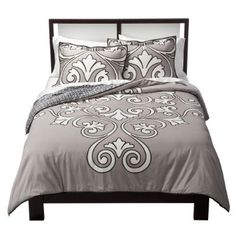 Looking for an inexpensive update in your bedroom?  This comforter set has it's own spin on the Fleur-de-lis trend, and with great reviews on color, quality and washer-friendly and at $75 for the king set, you stumbled on a good find!