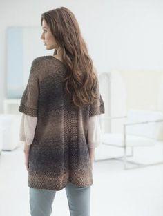Free Knitting Pattern L50145 Free Spirit Topper : Lion Brand Yarn Company