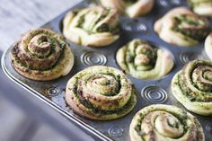 Arugula and Walnut Pesto rolls