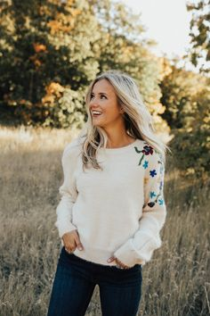 Birch Embroidered Sweater | ROOLEE