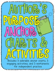 This unit includes many fun activities that will motivate and engage students while learning about the Author's purpose. Reading Strategies, Reading Activities, Reading Skills, Teaching Reading, Reading Comprehension, Teaching Ideas, Teaching Time, Guided Reading, Learning