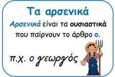 Picture Letter Activities, Educational Activities, Grammar Posters, Learn Greek, Greek Language, English Words, Happy Kids, Speech Therapy, Kids Learning
