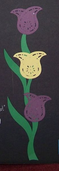 Paisley maker tulips