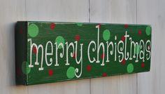 Christmas Sign Custom Wood Sign Christmas Decoration by wavynavy