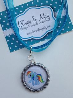 My Little Pony 'Rainbow Dash' Boutique Bottlecap by OliverandMay, $4.99