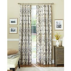 Great for front living rm or dining room. Better Homes and Gardens Ikat Scroll Curtain Panel Ikat Curtains, Cool Curtains, Rod Pocket Curtains, Window Curtains, Bedroom Curtains, Turquoise Curtains, Curtains Walmart, Brown Curtains, Blackout Curtains