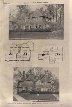 Victorian House Plans, Vintage House Plans, Victorian Homes, Shingle Style Homes, Sims 4 Houses, Scientific American, House Floor Plans, Art And Architecture, Ideal Home