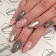 Superb Almond nails are not for me, but I love this color combo. The post Almond nails are not for me, but I love this color combo…. appeared first on Nails . Love Nails, Pink Nails, My Nails, Fall Nails, Pastel Nail, Glitter Nails, Pointed Nails, Stiletto Nails, Almond Shape Nails