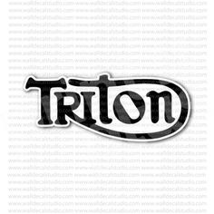 Triton Motorcycle Sign Sticker for - Stickers Motorcycle Motorcycle Stickers, Motorcycle Logo, Rockers, Harley Davidson, Bike, Silhouette, Logos, Letter Board, Bicycle