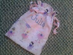 Handmade Draw String bag/ Ballerina bag/ Girls bag by KidsAtelier, $15.50