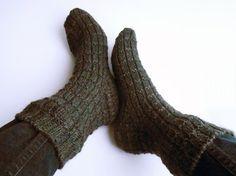 Wool socks in charcoal, turbulence knit socks, boot socks, grey bed socks, womens large, mens medium size, winter clothing, hiking gear