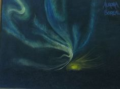 Aurora Borealis - lovely Chalkboard drawing for climatology
