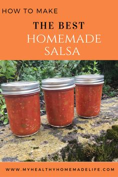 The Best Homemade Salsa (for Canning) – My Healthy Homemade Life Canning Homemade Salsa, Salsa Canning Recipes, Canning Salsa, Canning Tomatoes, Canning Vegetables, Grow Tomatoes, Salsa Recipe For Canning Without Vinegar, Best Canned Salsa Recipe, Canning Pickles