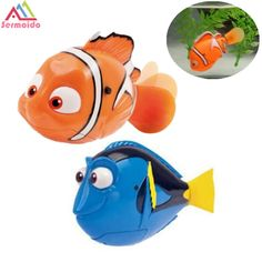 Special Offer SERMOIDO Robot Small Dory Nemo Fish Tail Swimming Dolls Colorful Wig Mermaid Robofish Child Electronic Pet Toys A133