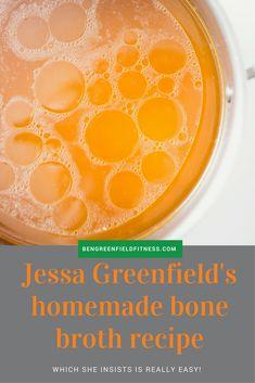 Jessa's easy, hearty, un-processed Bone Broth recipe. Bone Broth Benefits, Homemade Bone Broth, Pot Sets, Stuffed Whole Chicken, Health Recipes, Sports Nutrition, Meal Planning, Organize, Content