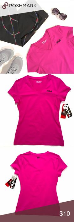 Fila Sport Performance Tee Race on wearing this women's FILA SPORT performance tee, featuring smooth, moisture-wicking performance fabric with mesh insets to keep you cool and comfortable. A44 Fila Tops Tees - Short Sleeve