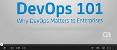 There has been growing buzz about DevOps. DevOps is a methodology that unites the often separate functions of software development (Dev) and production and operations (Ops) into a single, integrated, and continuous process. Sounds good right? But what does that really mean? And how do you get started? Watch this short video to learn the basics of DevOps. For more on getting started with DevOps, read the eBooklet at www.ca.com/devops-ebook