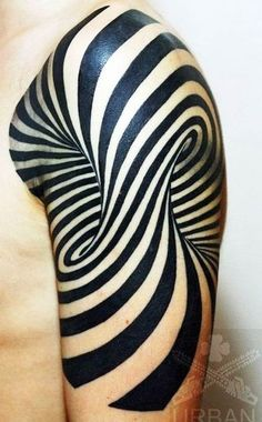 Trippy arm tattoo