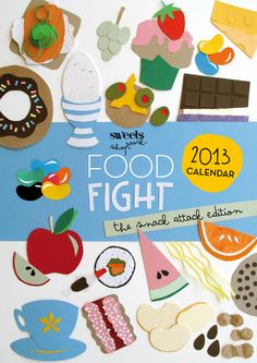Poster for Sweets Workshop Food Fight apparently. Don't know who's the artist behind it.