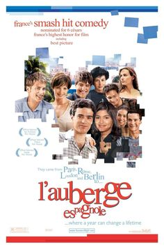 L'Auberge Espagnole , starring Romain Duris, Judith Godrèche, Kelly Reilly, Audrey Tautou. A strait-laced French student moves into an apartment in Barcelona with a cast of six other characters from all over Europe. Together, they speak the international language of love and friendship. #Comedy #Drama