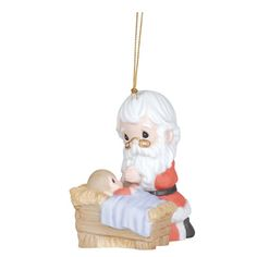 A stirring reminder of the reason for the season, this Precious Moments ornament features Santa kneeling next to Baby Jesus. You can find this special selection today at Coppin's! http://www.coppinsgifts.com/precious-moments-kneeling-santa-and-manger-ornament.html