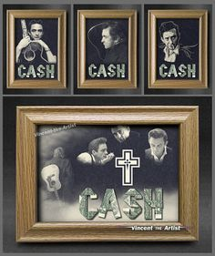 Custom JOHNNY CASH Signs made of Real Money - Origami