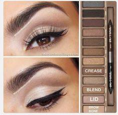 Naked pallete tutorial natural eye shade
