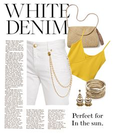 """""""White Summer Sun"""" by m1ssm1a ❤ liked on Polyvore featuring Mar y Sol, Sole Society and Pierre Balmain"""