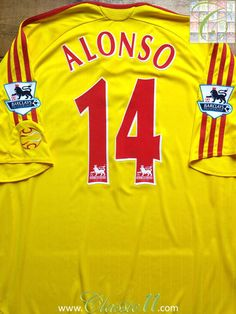 Relive Xabi Alonso's 2006/2007 Premier League with this vintage Adidas Liverpool away football shirt.