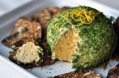 Cheddar and Olive Cheese Ball with Dijon, Lemon and Dill (for my cheddar loving boyfriend!)