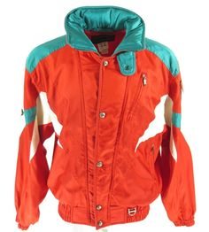 9db19fc0925 Vintage 80s Descente Ski Jacket Mens Large Insulated Retro Patches Snowboard
