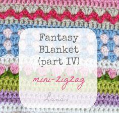 Fantasy Blanket tutorial by Lanas de Ana. Part 4: The mini-zigzag.