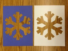 Apples and ABC's Masking Tape Snowflakes