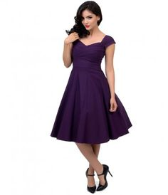 This is a classy 1940's style Mad Men eggplant dress by Stop Staring is an exclusive color for Unique Vintage! Thick str...Price - $166.00-lX9c2vv0