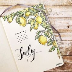 10 Bullet Journal Themes For July That Are Perfect For Summer Break! stunning cover ideas for your bullet journal that you need to try! July cover ideas that are full of life and perfect for summer. Get bullet journal inspiration here! Bullet Journal Inspo, Bullet Journal With Calendar, Bullet Journal Cover Ideas, Bullet Journal 2019, Bullet Journal Notebook, Bullet Journal Aesthetic, Bullet Journal Spread, Bullet Journal Layout, Journal Covers