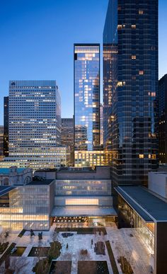 Baccarat Hotel & Residence by SOM. Moma courtyard in foreground. Manhattan is just incredible.