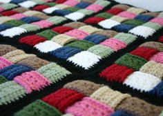 Korb Flechten afghanischen Decke häkeln Dicke Runde werfen