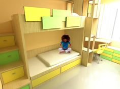 """Check out my @Behance project: """"Furniture for the room for kids"""" https://www.behance.net/gallery/44640489/Furniture-for-the-room-for-kids"""