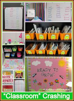 """""""Classroom"""" Organization on a Color Scheme (even the anchor charts are coordinated!)"""