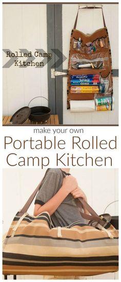 Camp Kitchen Organizer - Rolled Camp Kitchen