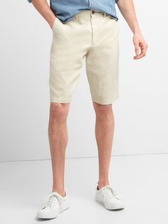 Gap Mens Chino Shorts In Cotton-Linen - Cornflower Chino Shorts, Bermuda Shorts, Birch Wedding, Shorts Sale, Cotton Linen, New Look, Gap, Shopping, Desert Cactus