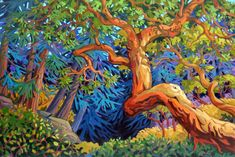 Arbutus Tree, Forest Painting, Mini Canvas Art, Alcohol Ink Painting, Canadian Artists, Sculpture, Cool Paintings, Tree Art, Artist At Work