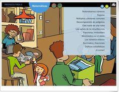 Actividades digitales del área de Matemáticas para 6º nivel de Educación Primaria pertenecientes al Proyecto Tren de Editorial La Galera.