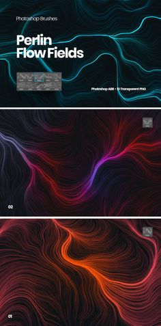 **Digital Network Flow of Waves Photoshop Brushes Overview** The archive consists of 10 high-resolution Photoshop Brushes. Photoshop Brushes, Fields, Flow, Design Inspiration, Waves, Templates, Digital, Stencils, Vorlage
